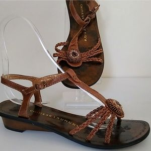 Chinese Laundry sandal Brown beaded shoe